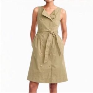 J. Crew garment dyed trench dress belted
